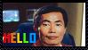 Sulu's Hello by NoxNoctisUmbra