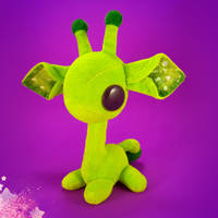 STICK the 7-inch Giraffe Eco-Friendly Plush Toy by NebulousFrog