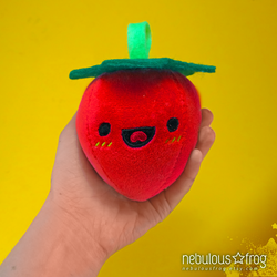 Handmade Organic Strawberry Art Plush