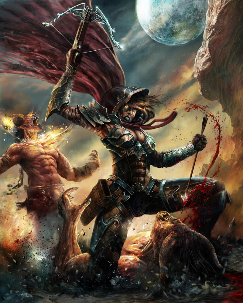 Demon Hunter / Diablo 3 fan art by CyrilT