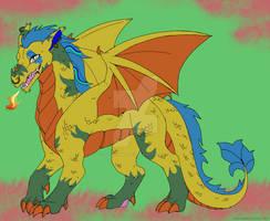 Nick the Dragon (baseedit for a friend) by DiamondBlacky