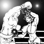 Boxing Babe Jessy - Belly Punch Time