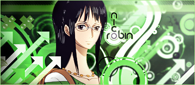 Nico Robin Abstract Signature by YinYangSplit