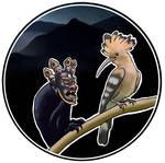 Hoopoe and a tibetan demon