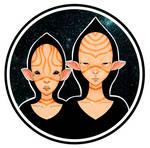 Intergalactic siblings