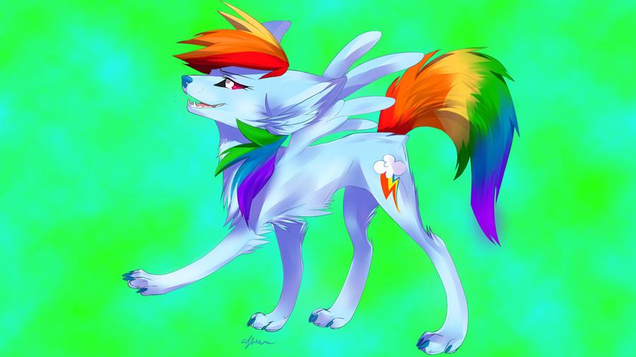 Rainbow Wolf Wallpaper