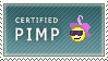 Certified Pimp Stamp by IncessantDoodling