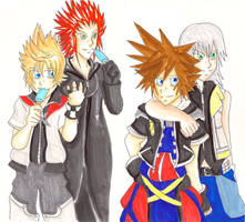 :: Kingdom Hearts :: Pairs by khiro