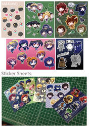 Sticker Sheets by khiro