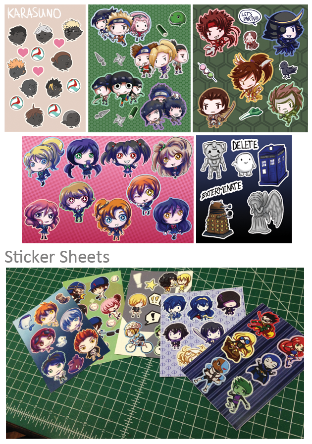 Sticker Sheets by khiro