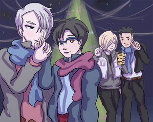 Yuri on Ice Christmas by khiro