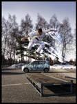 Skateboarding - leslie