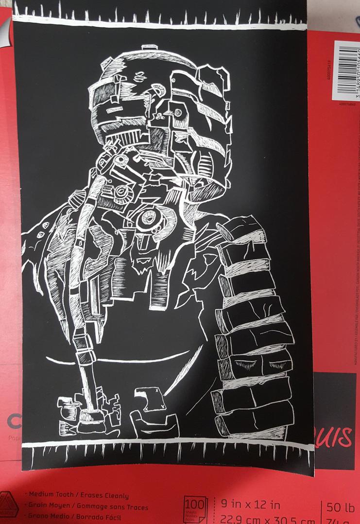 Issac clark (scratch board) by sosLadyDeath