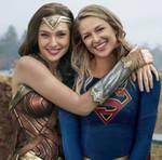 Goddesses Melissa Benoist and Gal Gadot.