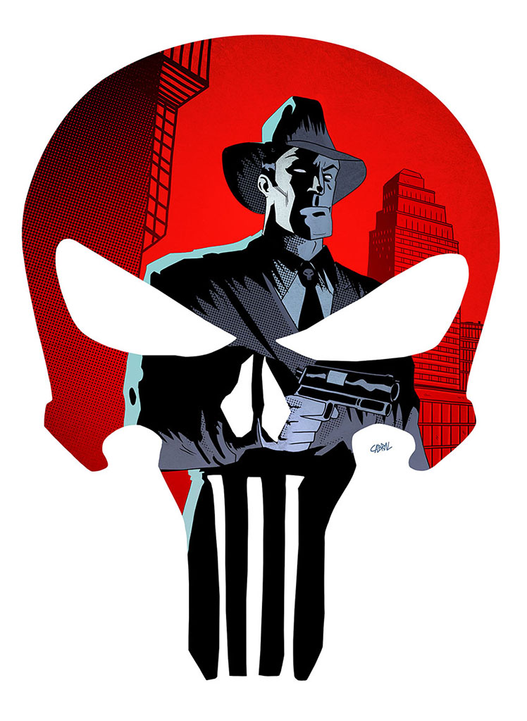 Punisher Noir by Cabbral