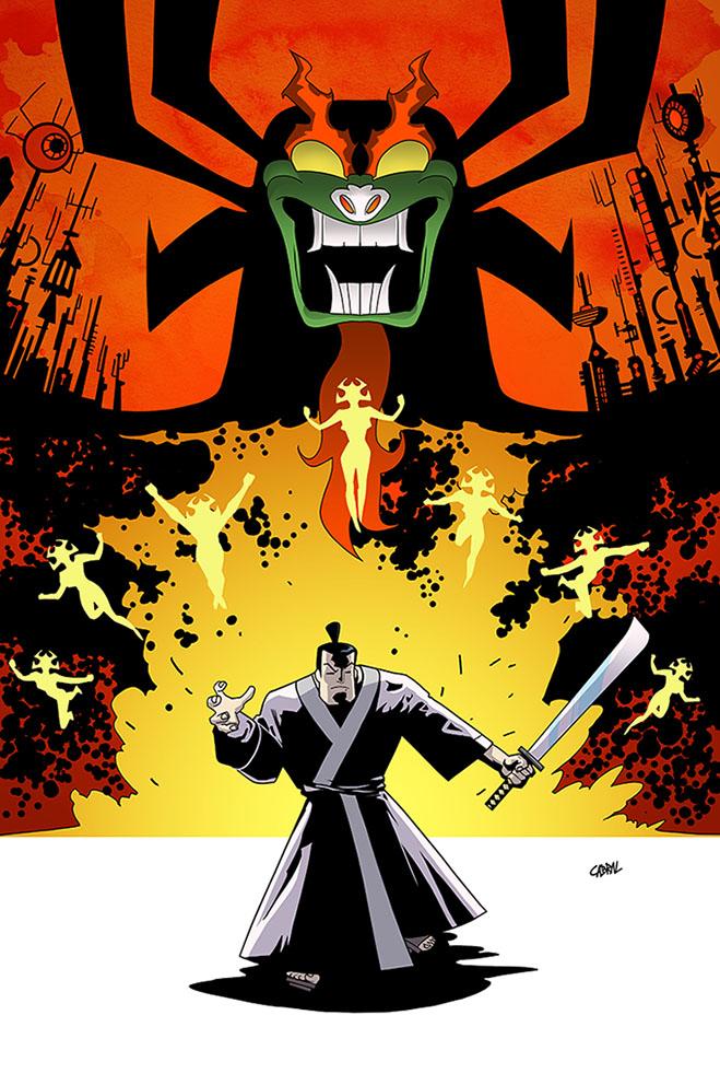 Samurai Jack and Aku by Cabbral
