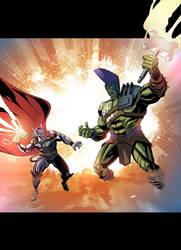 Thor vs Hulk by Cabbral