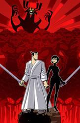 Samurai Jack and Ashi by Cabbral