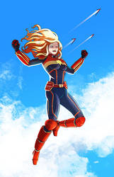 Captain Marvel by Cabbral