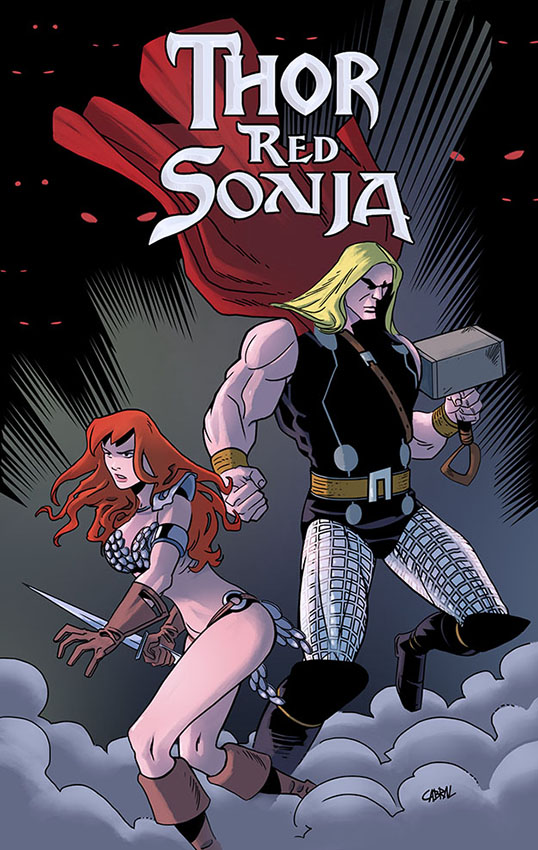 Thor and RedSonja by Cabbral