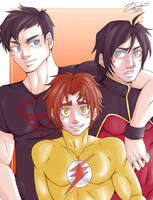 Young Justice Trio Reloaded by Zorafish