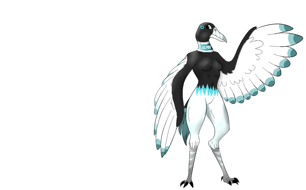 Anthro Red Crowned Crane Android by AryVaur
