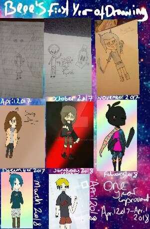 First Year Of Drawing! by HoneyBeeeYT