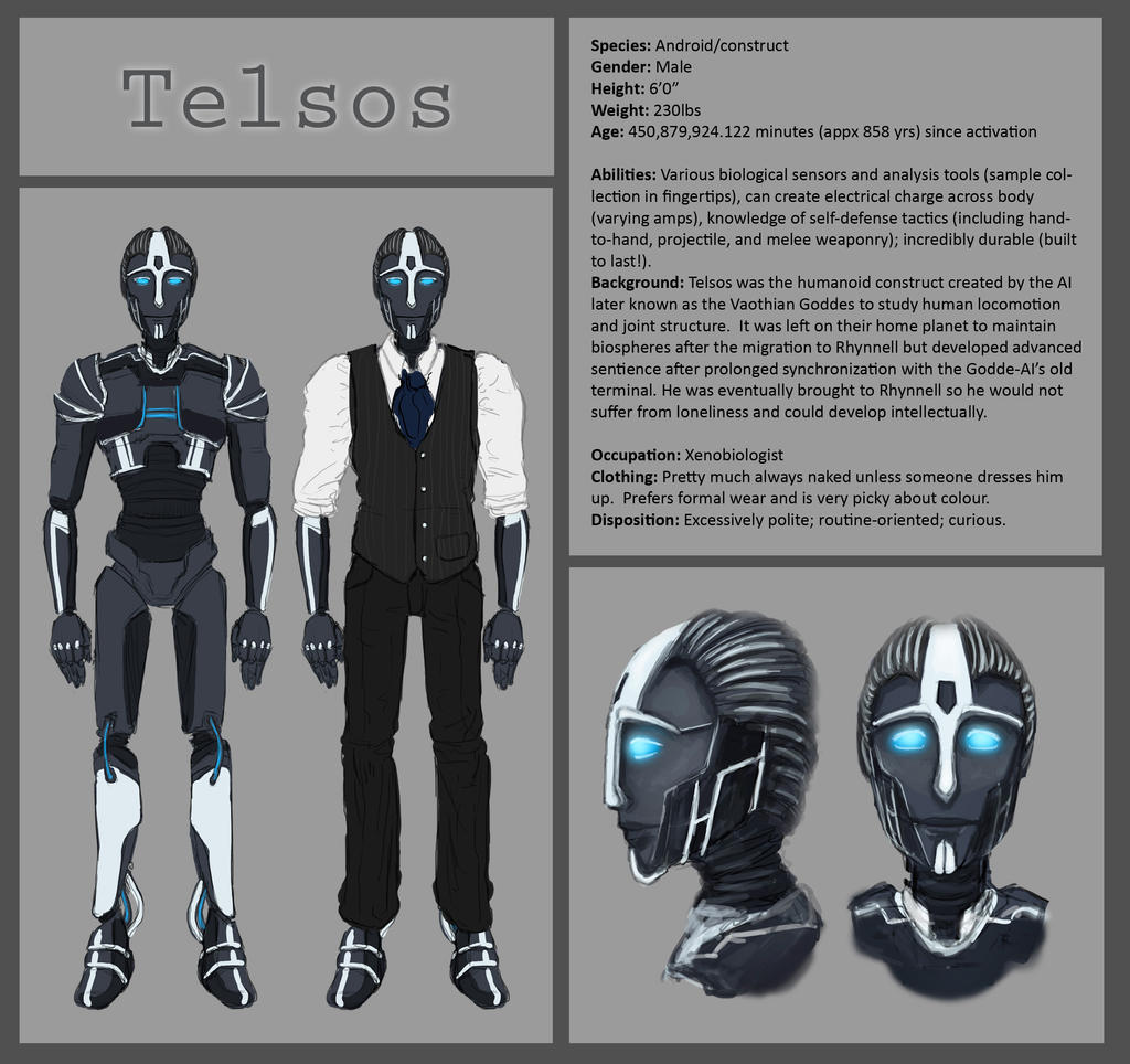 Telsos character sheet by Cnids