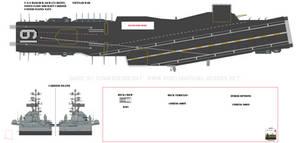1/200 U.S.S. Hancock (CVA-19) aircraft carrier dio