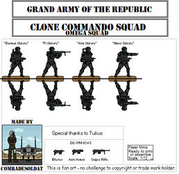 Republic Commandos Omega Squad by Comradesoldat
