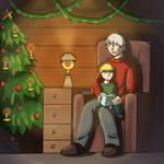 Reading Christmas Stories - Hetalia by rexmin203