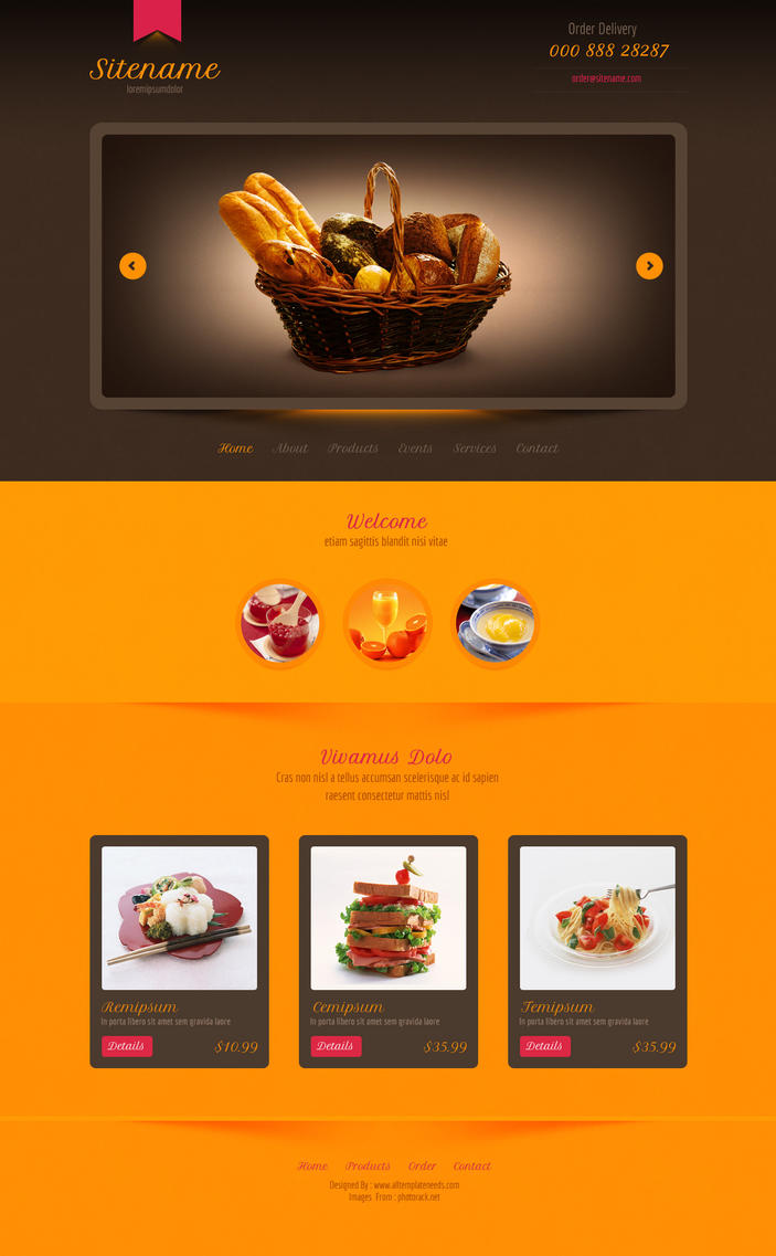 Food store psd template by rafimit on DeviantArt