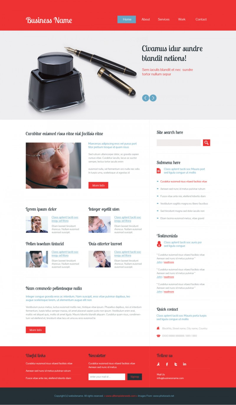 Free Psd Business template by rafimit on DeviantArt