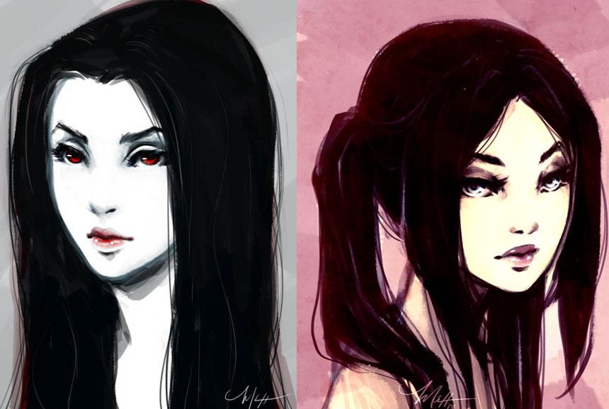 Portrait sketches by peipur