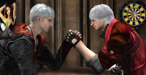 DMC: Armwrestle by Lilacsbloom