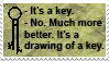 Drawing of a key stamp by Narucid