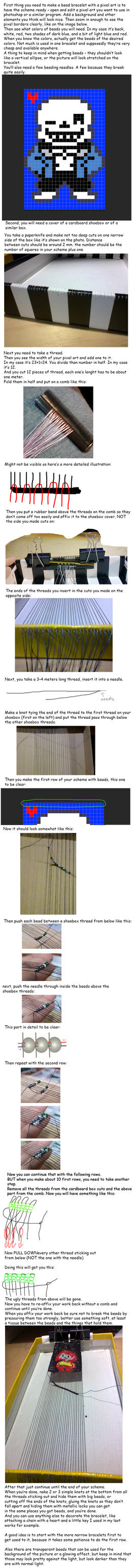 How to make a bead bracelet with a pixel art image by Narucid