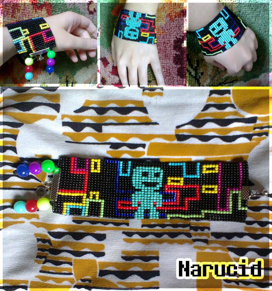 VVVVVV Anomaly bead bracelet by Narucid