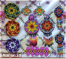 Huichol motif style bead jewlery