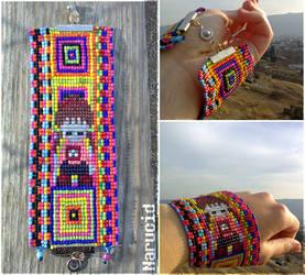 Yume Nikki bead bracelet