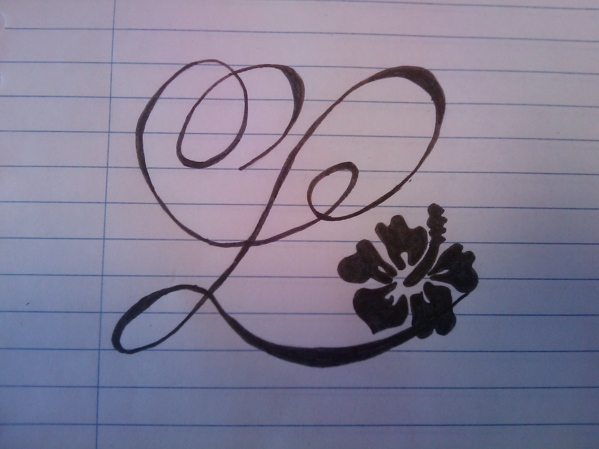 Letter L Tattoo By Profiler Designs