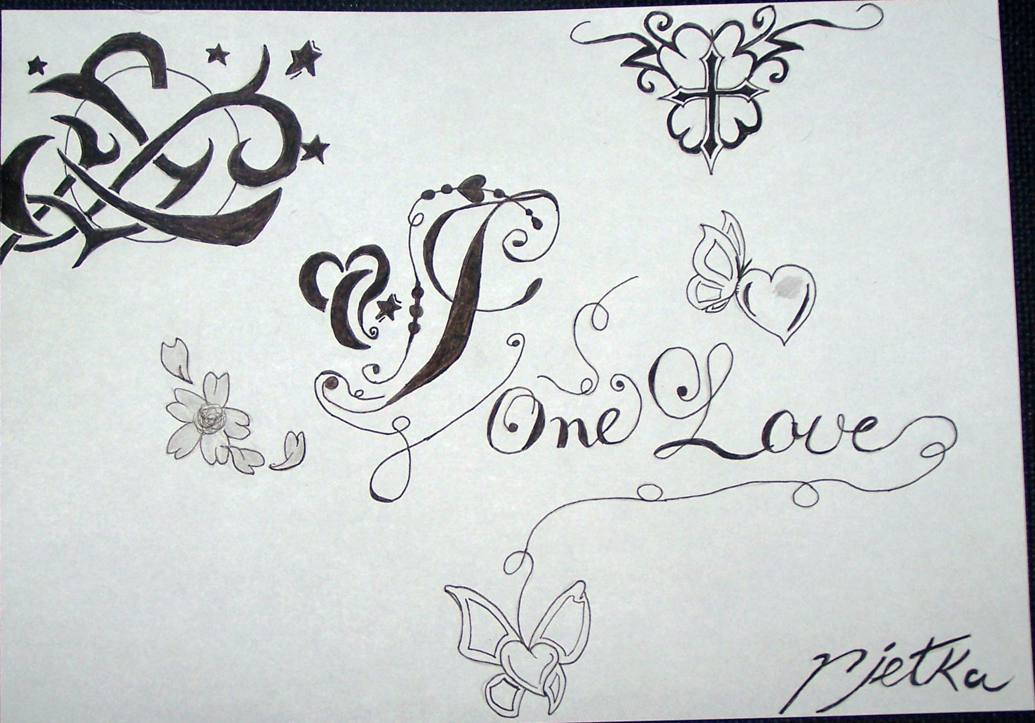 Letter J One Love Drawin By Profiler Designs