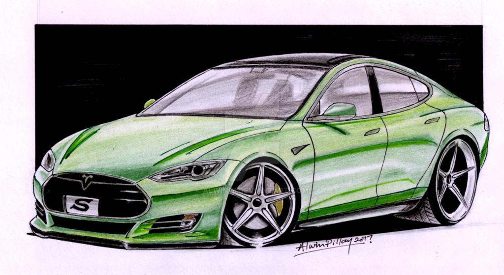 Pubg By Sodano On Deviantart: Tesla Model S By AlwinP1 On DeviantArt