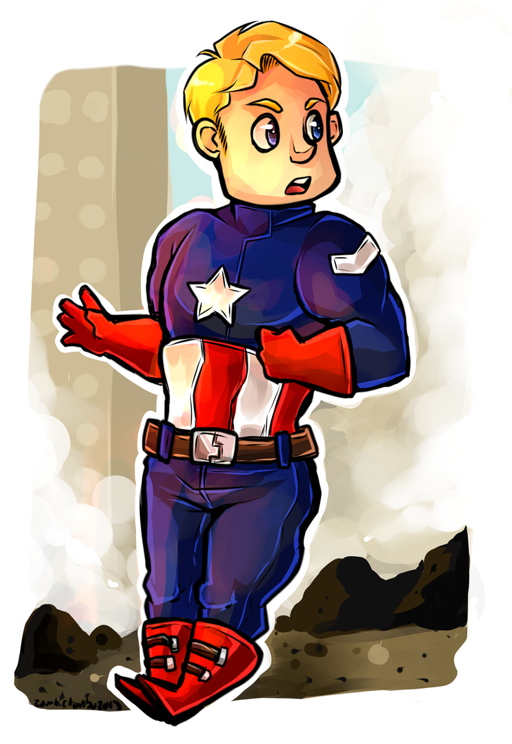 captain america by tonbo-kun