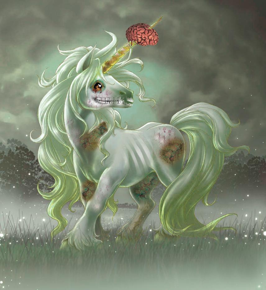 zombie unicorn by jennuhhhhh