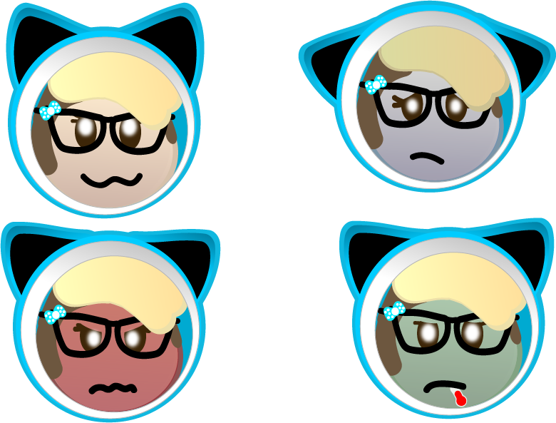 My custom pixel emoji's by PixelAndPie