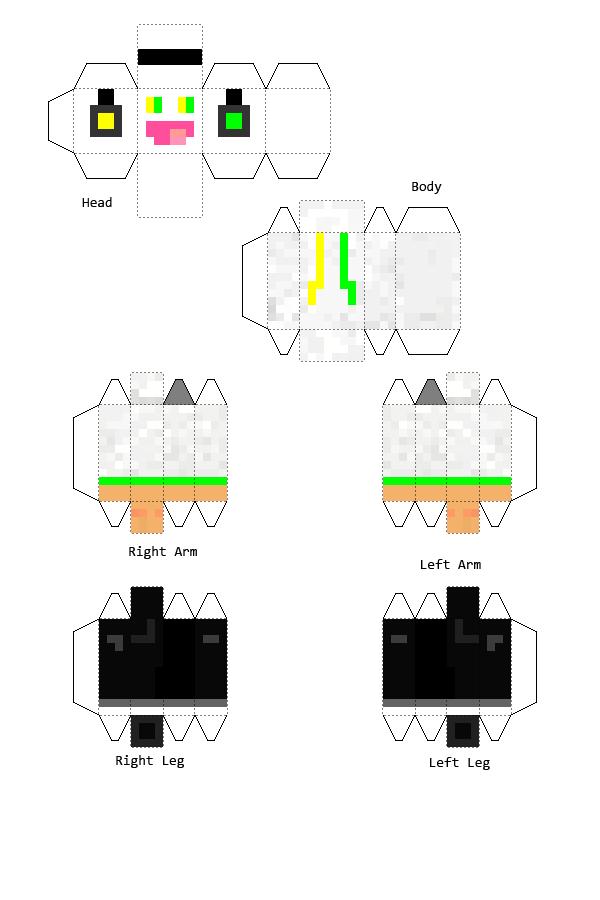 PanSmietanka - Minecraft Papercraft by Dziuu-MC
