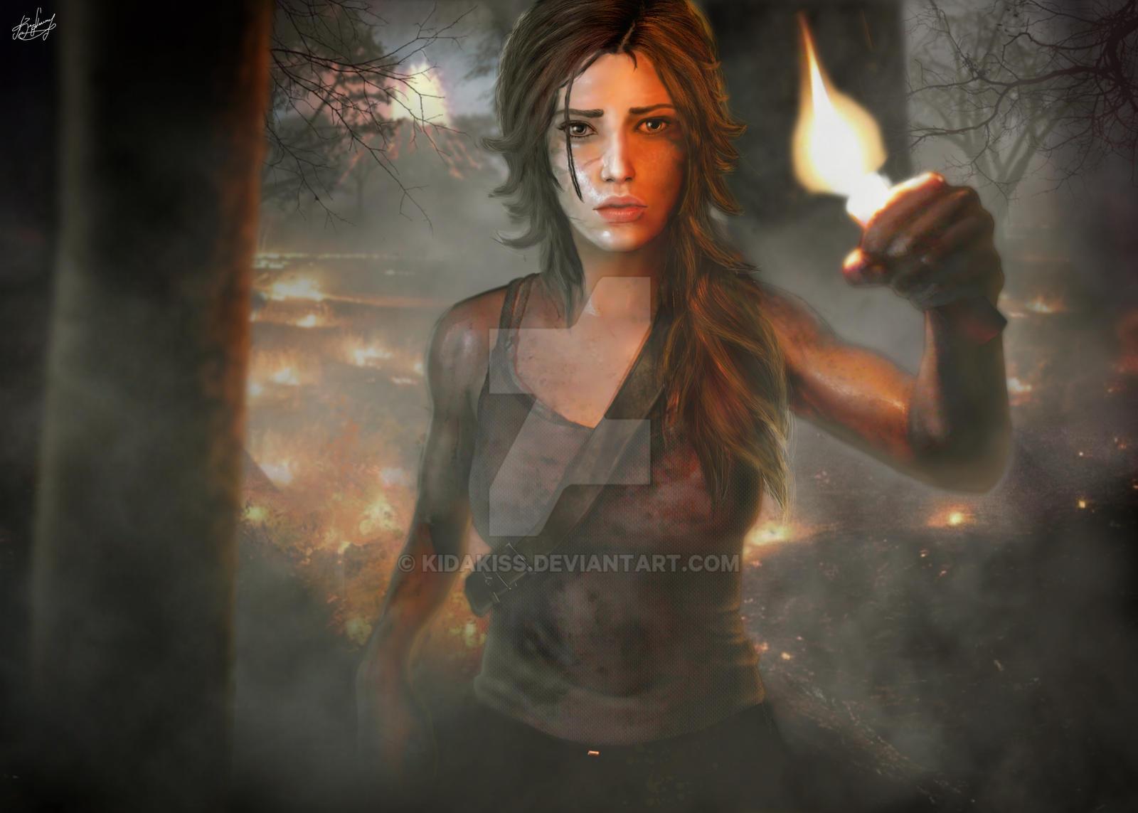 Lara Croft Young (Tomb Raider 2013) by KidaKiss