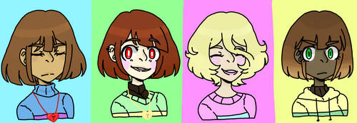 Blue, Green, Pink and Yellow by LeviMika
