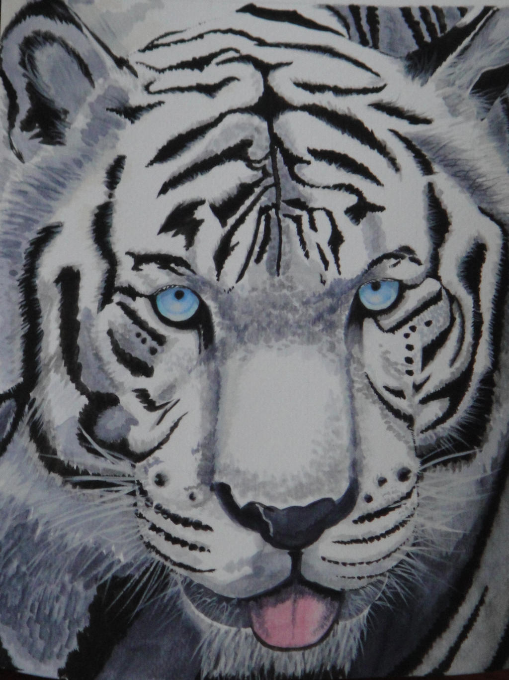 White Tiger with Blue Eyes by thelittlexWhite Tigers With Green Eyes